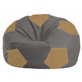 Кресло-мешок Мяч серый - бежевый М 1.1-348