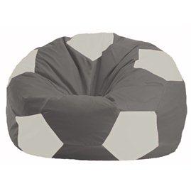 Кресло-мешок Мяч серый - белый М 1.1-334