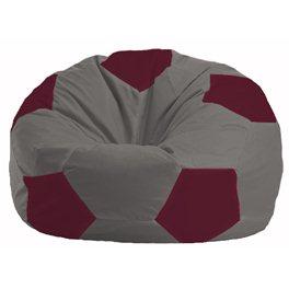 Кресло-мешок Мяч серый - бордовый М 1.1-336