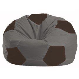 Кресло-мешок Мяч серый - коричневый М 1.1-340