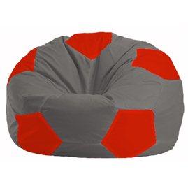 Кресло-мешок Мяч серый - красный М 1.1-332