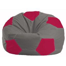 Кресло-мешок Мяч серый - малиновый М 1.1-353