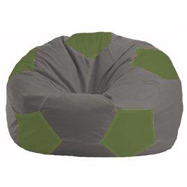 Кресло-мешок Мяч серый - оливковый М 1.1-341