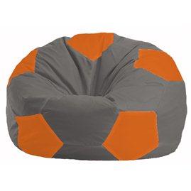 Кресло-мешок Мяч серый - оранжевый М 1.1-342