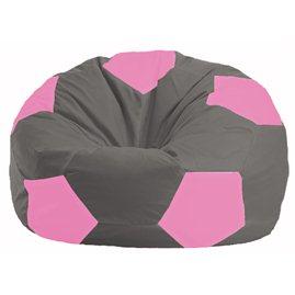 Кресло-мешок Мяч серый - розовый М 1.1-333