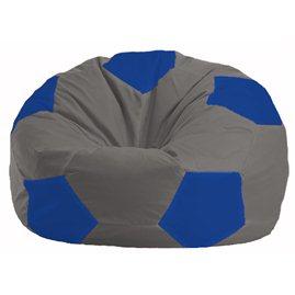 Кресло-мешок Мяч серый - синий М 1.1-345