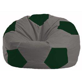 Кресло-мешок Мяч серый - тёмно-зелёный М 1.1-349