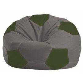 Кресло-мешок Мяч серый - тёмно-оливковый М 1.1-350
