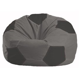 Кресло-мешок Мяч серый - тёмно-серый М 1.1-351