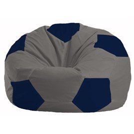 Кресло-мешок Мяч серый - тёмно-синий М 1.1-347
