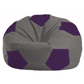 Кресло-мешок Мяч серый - фиолетовый М 1.1-352