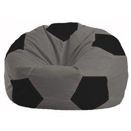 Кресло-мешок Мяч серый - чёрный М 1.1-354