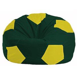 Кресло-мешок Мяч тёмно-зелёный - жёлтый М 1.1-65
