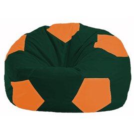 Кресло-мешок Мяч тёмно-зелёный - оранжевый М 1.1-64