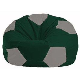 Кресло-мешок Мяч тёмно-зелёный - серый М 1.1-61