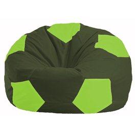Кресло-мешок Мяч тёмно-оливковый - салатовый М 1.1-55