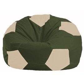 Кресло-мешок Мяч тёмно-оливковый - светло-бежевый М 1.1-54
