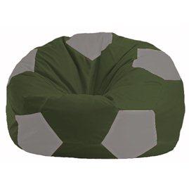 Кресло-мешок Мяч тёмно-оливковый - серый М 1.1-53