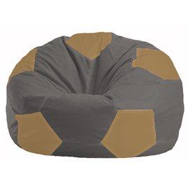 Кресло-мешок Мяч тёмно-серый - бежевый М 1.1-368