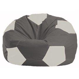 Кресло-мешок Мяч тёмно-серый - белый М 1.1-357