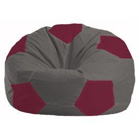 Кресло-мешок Мяч тёмно-серый - бордовый М 1.1-358