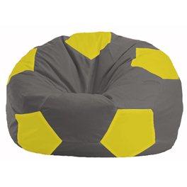Кресло-мешок Мяч тёмно-серый - жёлтый М 1.1-360