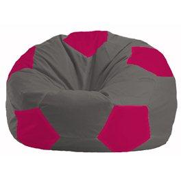 Кресло-мешок Мяч тёмно-серый - малиновый М 1.1-371