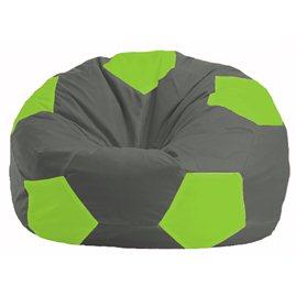 Кресло-мешок Мяч тёмно-серый - салатовый М 1.1-356