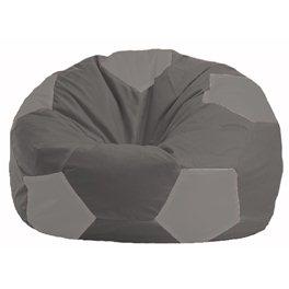 Кресло-мешок Мяч тёмно-серый - серый М 1.1-366