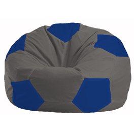 Кресло-мешок Мяч тёмно-серый - синий М 1.1-369