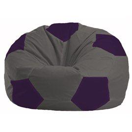 Кресло-мешок Мяч тёмно-серый - фиолетовый М 1.1-370