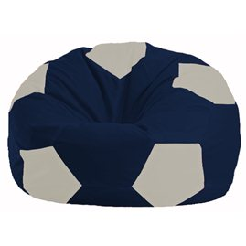 Кресло-мешок Мяч тёмно-синий - белый М 1.1-500