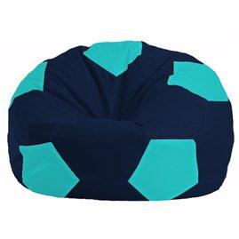 Кресло-мешок Мяч тёмно-синий - бирюзовый М 1.1-50