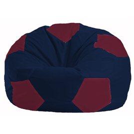 Кресло-мешок Мяч тёмно-синий - бордовый М 1.1-49