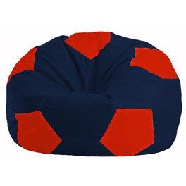 Кресло-мешок Мяч тёмно-синий - красный М 1.1-46