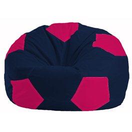 Кресло-мешок Мяч тёмно-синий - малиновый М 1.1-37