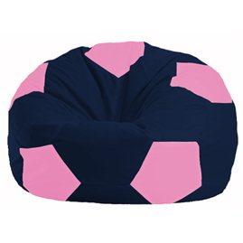 Кресло-мешок Мяч тёмно-синий - розовый М 1.1-44