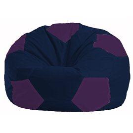 Кресло-мешок Мяч тёмно-синий - фиолетовый М 1.1-38