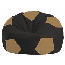 Кресло-мешок Мяч чёрный - бежевый М 1.1-472