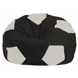 Кресло-мешок Мяч чёрный - белый М 1.1-392