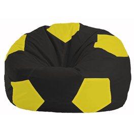Кресло-мешок Мяч чёрный - жёлтый М 1.1-396