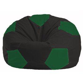 Кресло-мешок Мяч чёрный - зелёный М 1.1-397
