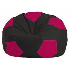 Кресло-мешок Мяч чёрный - малиновый М 1.1-474