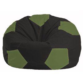 Кресло-мешок Мяч чёрный - оливковый М 1.1-399
