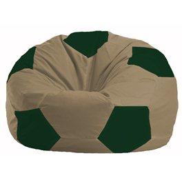 Кресло-мешок Мяч бежевый - тёмно-зелёный М 1.1-83