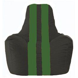 Кресло-мешок Спортинг чёрный - зелёный С1.1-397