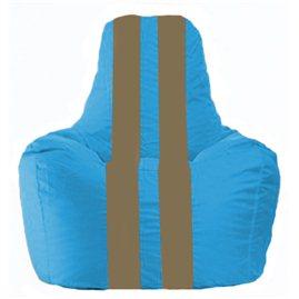 Кресло-мешок Спортинг голубой - бежевый С1.1-271