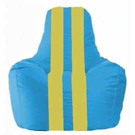 Кресло-мешок Спортинг голубой - жёлтый С1.1-280