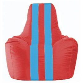 Кресло-мешок Спортинг красный - голубой С1.1-179