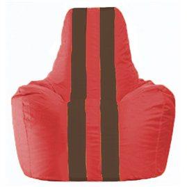 Кресло-мешок Спортинг красный - коричневый С1.1-177